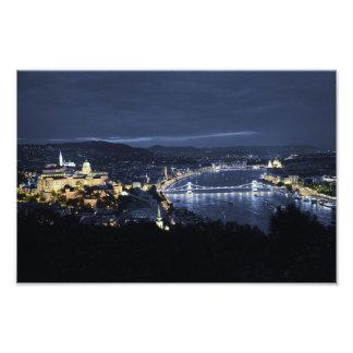 City of Budapest(Hungary) at Night Photo Print