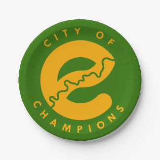 City of Champions Paper Plates
