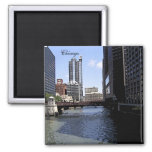 City of Chicago & Lake Michigan Sketch Refrigerator Magnets