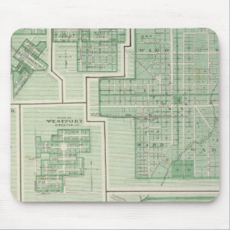 City of Columbus, Bartholomew Co with Greensburg Mouse Mat
