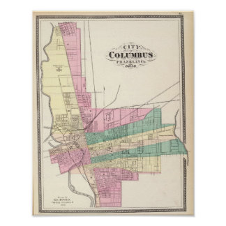 City of Columbus, Franklin County, Ohio Poster