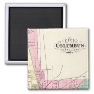 City of Columbus, Franklin County, Ohio Square Magnet