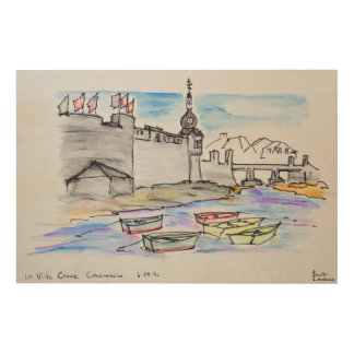 City of Concarneau | Finistere, Brittany Wood Wall Decor