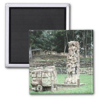 City of Copan Mayan Ruins Photo Designed Magnet
