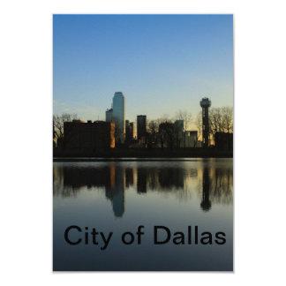 City of Dallas 9 Cm X 13 Cm Invitation Card