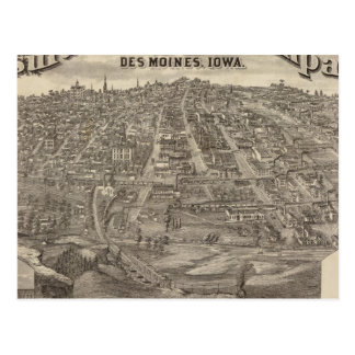 City of DesMoines from South Park Hill Postcard