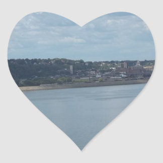 City of Dubuque Iowa on the Mississippi River Sticker