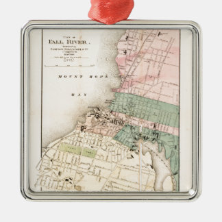 City of Fall River, Massachusetts Map (1874) Christmas Ornament