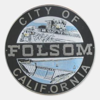City of Folsom Calfornia city logo Classic Round Sticker