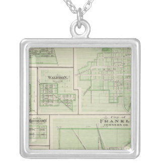City of Franklin, Johnson Co with Shelbyville Silver Plated Necklace