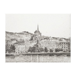 City of Geneva 2011 Gallery Wrapped Canvas