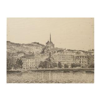 City of Geneva 2011 Wood Canvas