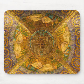 City of God Neo Byzantine mosaic cathedral ceiling Mouse Pad