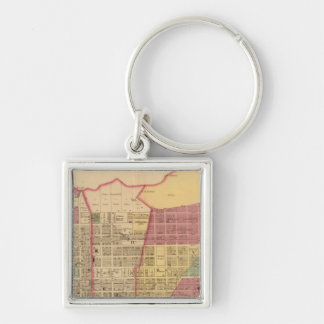 City of Ironton with Proctorsville Silver-Colored Square Key Ring