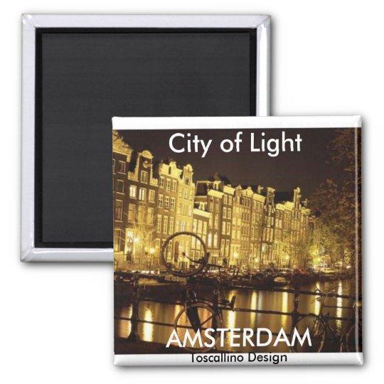 city of light (Amsterdam ) - Customised Square Magnet