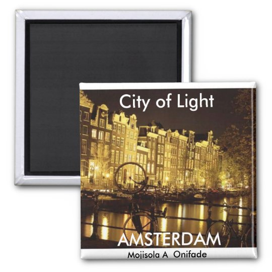 city of light (Amsterdam ) - Customised Square Magnet