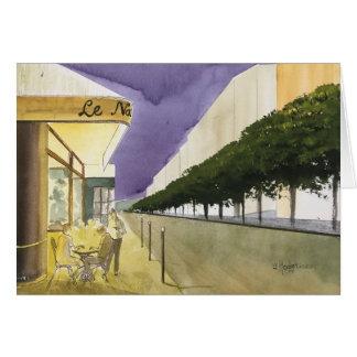 CITY OF LIGHT,  PARIS, WATERCOLOR CARD