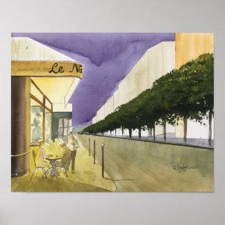 CITY OF LIGHT,  PARIS,   WATERCOLOR POSTER