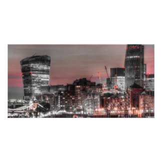 City of London at night Photo Card Template