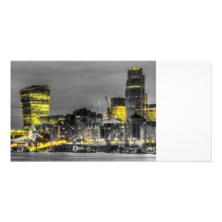City of London at night Customised Photo Card
