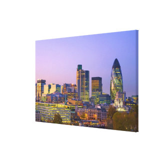 City of London Stretched Canvas Print