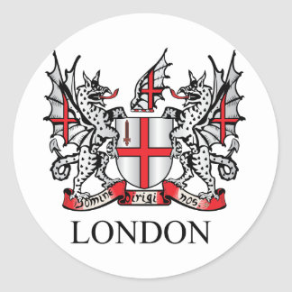 City of London coat of arms Classic Round Sticker