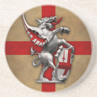 City of London Dragon Sandstone Coaster
