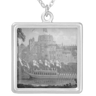 City of London State Barge Silver Plated Necklace