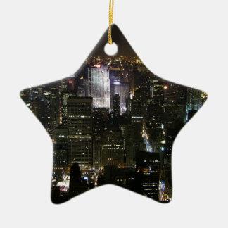 City of Manhattan, New York NYC Ceramic Star Decoration