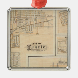 City of Muncie, Delaware Co with Yorktown Christmas Ornament