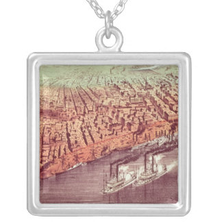 City of New Orleans Silver Plated Necklace