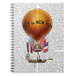 City of New York Hot Air Balloon Spiral Note Book
