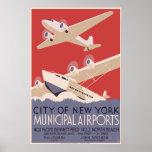 City of New York Municipal Airports Poster