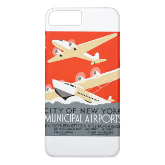 City of New York Municipal Airports Vintage Poster iPhone 7 Plus Case
