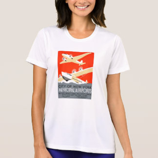 City of New York Municipal Airports Vintage Poster T Shirt