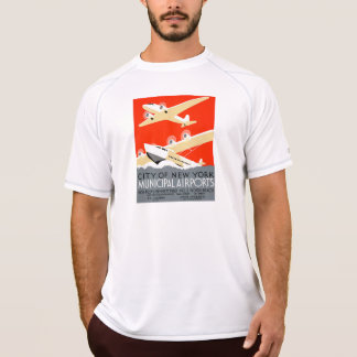 City of New York Municipal Airports Vintage Poster Tees