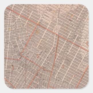 City of NY Atlas Map Square Sticker