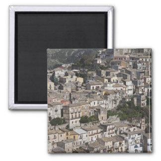 City of old buildings on hillside square magnet