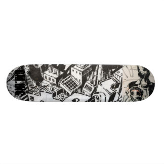 city of pain skateboard deck