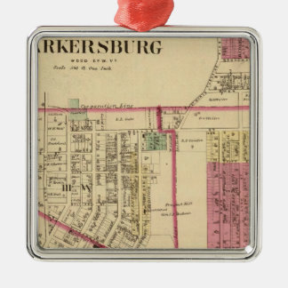 City of Parkersburg, West Virginia Silver-Colored Square Decoration
