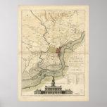 City of Philadelphia Pennsylvania Map (1777) Poster