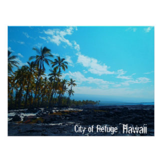 City of Refuge Big Island Hawaii scenic poster