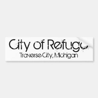 CIty of Refuge Traverse City, MI Bumper Sticker