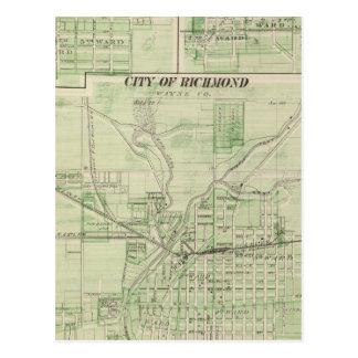 City of Richmond, Wayne Co with Centreville Postcard