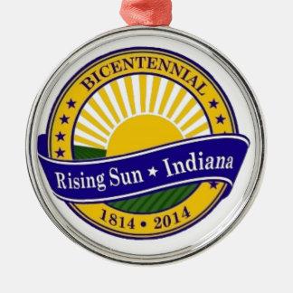 City of Rising Sun Indiana bicentennial Logo Christmas Ornament