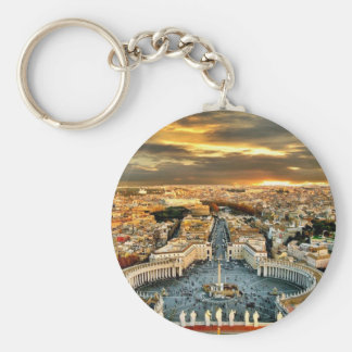 City of Rome Basic Round Button Key Ring