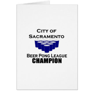 City of Sacramento Beer Pong Champion Cards