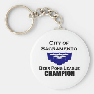 City of Sacramento Beer Pong Champion Key Chain