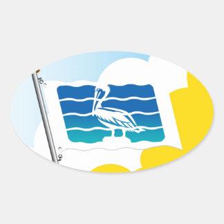 City of Saint Petersburg Florida Flag Oval Sticker