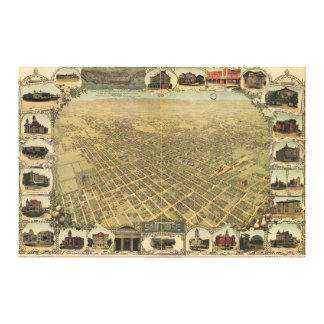 City of San Jose California in 1901 Stretched Canvas Prints